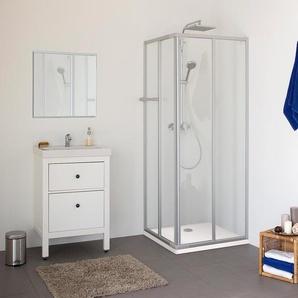 Breuer®-Dusche »Fara-Kretana« – Eckeinstieg - silber -