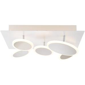 Brilliant LED-Deckenleuchte, Weiß, Alu, Eisen, Stahl & Metall