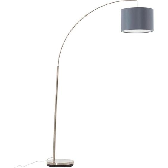 Brilliant Leuchten Bogenlampe Clarie, E27 1 flg., Ø 36,5 cm Höhe: 180 grau Bogenlampen Stehleuchten Lampen