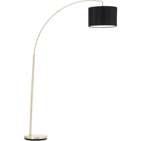 Brilliant Leuchten Bogenlampe Clarie, E27, 1 St., Textil steht für Gemütlichkeit und Harmonie flg., Höhe: 178 cm schwarz Bogenlampen Stehleuchten Lampen