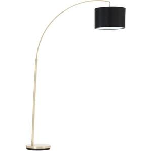 Brilliant Leuchten Bogenlampe Clarie, E27, 1 St., Textil steht für Gemütlichkeit und Harmonie flg., Höhe: 178 cm, Bogenstandleuchte schwarz Bogenlampen Stehleuchten Lampen