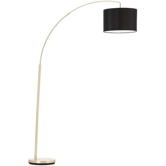 Brilliant Leuchten Clarie Bogenstandleuchte 1,8m messing gebürstet/schwarz Einheitsgröße braun Bogenlampen Stehleuchten Lampen