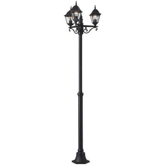 Brilliant Leuchten Newport Außenstandleuchte 3flg schwarz