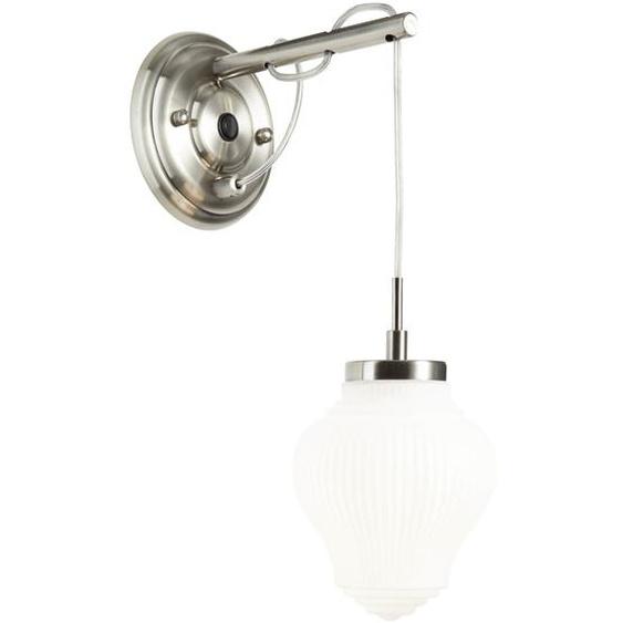 Brilliant Leuchten Tanic Wandleuchte hängend nickel/matt weiß Einheitsgröße grau Wandleuchten Lampen