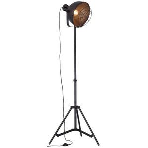 Brilliant Stehlampe, Schwarz, Alu, Eisen, Stahl & Metall
