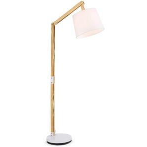 Brilliant Stehlampe ,Weiß ,Holz, Textil, Natur