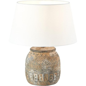 Brilliant Tischlampe Amadora Weiß-Braun