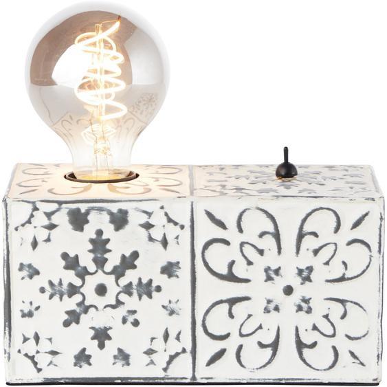 Brilliant Tischlampe Vagos Schwarz-Weiß 10 x 20 cm