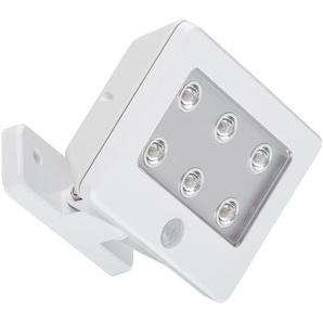 Briloner LED-Außenleuchte mit Sensor Lero Outdoor weiß, 6 Spots