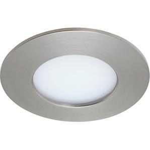 Briloner LED-Einbauleuchte Kunststoff Nickel matt H: 3 cm Ø: 8,5 cm