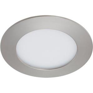 Briloner LED-Einbauleuchte Nickel matt H: 2,9 cm Ø: 12 cm