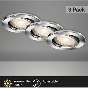 Briloner LED-Einbaustrahler  Chrom