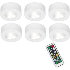 Briloner LED universal Schrankleuchten, Unterbauleuchten mit Fernbedienung, dimmbar, Timerfunktion, batteriebetrieben