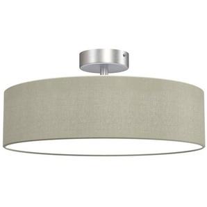 Briloner Leuchten LED Deckenleuchte »Jeffrey«, 3-flammig, Deckenlampe aus Stoff Ø 38cm, taupe, Hotel