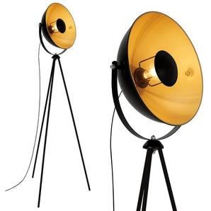 Briloner Leuchten Stehlampe »1380-015«, Stehlampe Retro 148cm schwarz gold schwenkbar