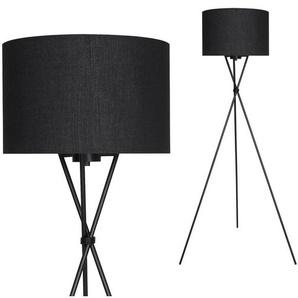 Briloner Leuchten LED Stehlampe »Shiggy«, 1-flammig, Stehlampe mit Stoffschirm in schwarz 142cm