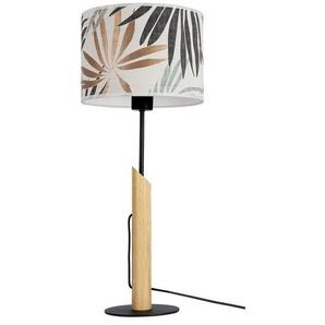 BRITOP LIGHTING Tischleuchte »HOJA«, Aus Eichenholz mit FSC®-Zertifikat, Schirm aus laminierter Tapete, passende LM E27 / exklusive, Made in Europe