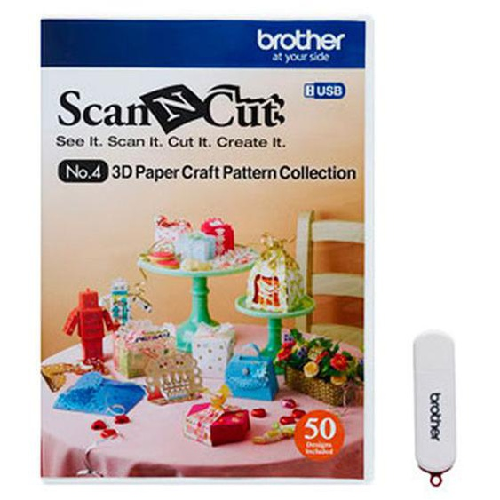 brother ScanNCut Designs Nr.4 3D Papiermodelle