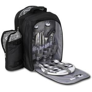 Brubaker Picknickrucksack Kühltasche für 4 Personen - mit isoliertem Flaschenhalter