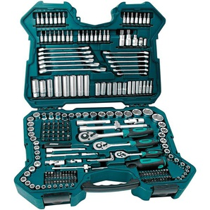 Brüder Mannesmann Werkzeuge Werkzeugset (215-tlg.), (Set, 215 St.) 38 x 52 12,5 cm grün Werkzeugkoffer Werkzeug Maschinen