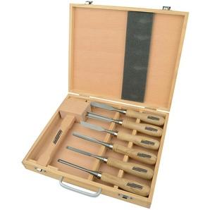 Brüder Mannesmann Werkzeuge Werkzeugset, (7 St.), Schnitzgerät Einheitsgröße braun Werkzeugset Werkzeugkoffer Werkzeug Maschinen
