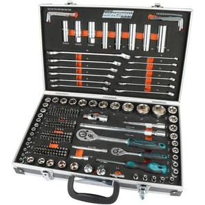 Brüder Mannesmann Werkzeuge Werkzeugset, (Set, 232 St.) 11 x 45,5 30,5 cm schwarz Werkzeugset Werkzeugkoffer Werkzeug Maschinen
