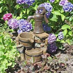 Brunnen in Holz-/Stein-Optik Dougan