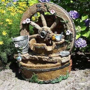 Brunnen in Holzoptik Doughty