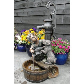 Brunnen Nancy aus Polyresin