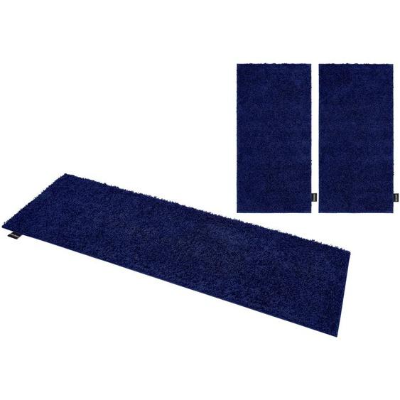 Bruno Banani Hochflor-Bettumrandung Shaggy Soft, gewebt B/L (Brücke): 70 cm x 140 (2 St.) (Läufer): 250 (1 St.), U-förmig blau Bettumrandungen Läufer Teppiche