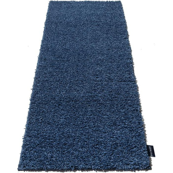 Bruno Banani Hochflor-Läufer Shaggy Soft, rechteckig, 30 mm Höhe, gewebt 11, 67x230 cm, blau Moderne Teppiche Unisex