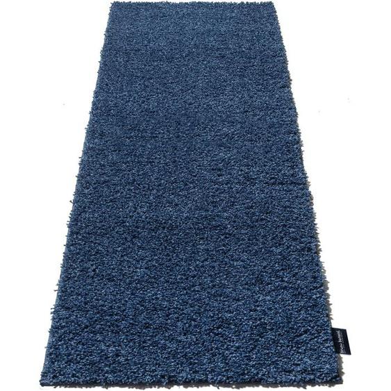 Bruno Banani Hochflor-Läufer Shaggy Soft, rechteckig, 30 mm Höhe, gewebt 12, 80x250 cm, blau Moderne Teppiche Unisex