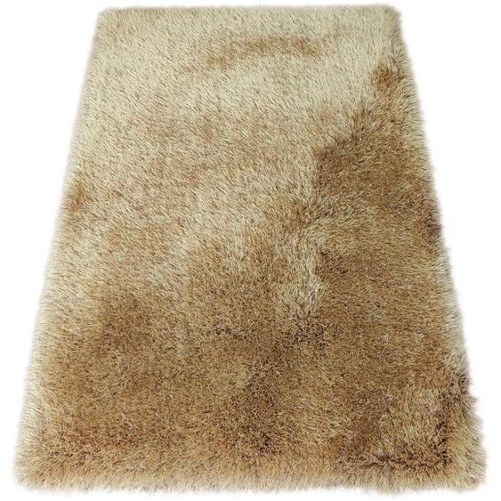 Bruno Banani Hochflor-Teppich Airis, rechteckig, 65 mm Höhe, Besonders weich durch Microfaser, Wohnzimmer B/L: 200 cm x 300 cm, 1 St. braun Esszimmerteppiche Teppiche nach Räumen