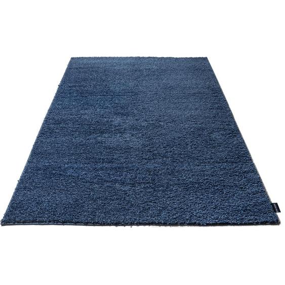 Bruno Banani Hochflor-Teppich Shaggy Soft, rechteckig, 30 mm Höhe, gewebt, Wohnzimmer 1, 80x80 cm, blau Schlafzimmerteppiche Teppiche nach Räumen