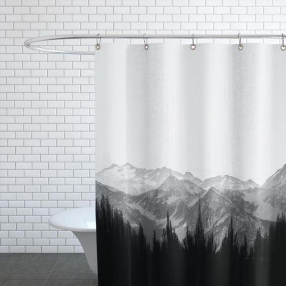 Brush Mountains-Duschvorhang