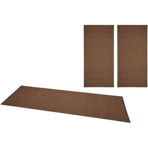 Bt Carpet Bettumrandung »Casual«, 14 (2x Brücke 140x67 cm & 1x Läufer 250x67 cm), 4 mm Gesamthöhe, braun