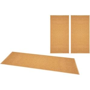 Bt Carpet Bettumrandung »Casual«, 14 (2x Brücke 140x67 cm & 1x Läufer 250x67 cm), 4 mm Gesamthöhe, gelb