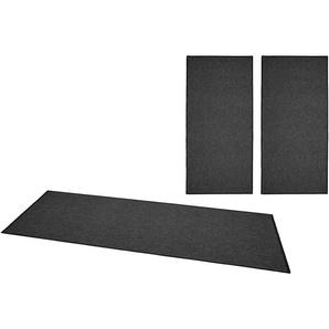 Bt Carpet Bettumrandung »Casual«, 14 (2x Brücke 140x67 cm & 1x Läufer 250x67 cm), 4 mm Gesamthöhe, grau