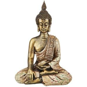Buddha ¦ gold ¦ Polyresin (Kunstharz) ¦ Maße (cm): B: 25 H: 34 T: 14