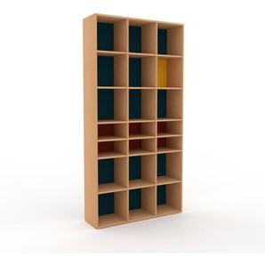 Bücherregal Buche, Holz - Modernes Regal für Bücher: Hochwertige Qualität, einzigartiges Design - 118 x 233 x 35 cm, konfigurierbar