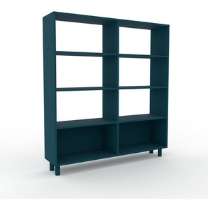 Bücherregal Blau - Modernes Regal für Bücher: Hochwertige Qualität, einzigartiges Design - 152 x 168 x 35 cm, Individuell konfigurierbar