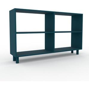 Bücherregal Blau - Modernes Regal für Bücher: Hochwertige Qualität, einzigartiges Design - 152 x 91 x 35 cm, Individuell konfigurierbar
