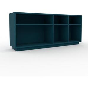 Bücherregal Blau - Modernes Regal für Bücher: Hochwertige Qualität, einzigartiges Design - 154 x 66 x 35 cm, Individuell konfigurierbar