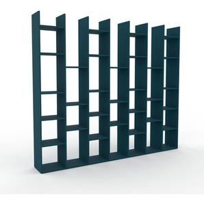Bücherregal Blau - Modernes Regal für Bücher: Hochwertige Qualität, einzigartiges Design - 272 x 233 x 35 cm, Individuell konfigurierbar