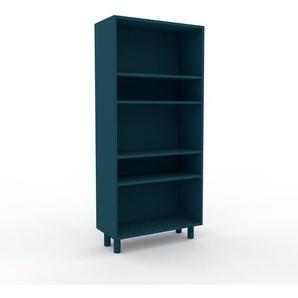 Bücherregal Blau - Modernes Regal für Bücher: Hochwertige Qualität, einzigartiges Design - 77 x 168 x 35 cm, Individuell konfigurierbar