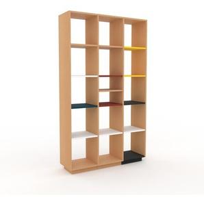 Bücherregal Buche, Holz - Modernes Regal für Bücher: Hochwertige Qualität, einzigartiges Design - 118 x 200 x 35 cm, konfigurierbar