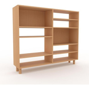 Bücherregal Buche, Holz - Modernes Regal für Bücher: Hochwertige Qualität, einzigartiges Design - 152 x 130 x 35 cm, konfigurierbar