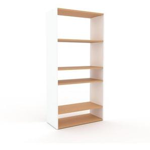 Bücherregal Weiß - Modernes Regal für Bücher: Hochwertige Qualität, einzigartiges Design - 77 x 157 x 35 cm, Individuell konfigurierbar