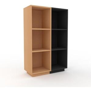 Bücherregal Buche, Holz - Modernes Regal für Bücher: Hochwertige Qualität, einzigartiges Design - 79 x 124 x 35 cm, konfigurierbar