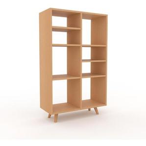 Bücherregal Buche, Holz - Modernes Regal für Bücher: Hochwertige Qualität, einzigartiges Design - 79 x 130 x 35 cm, konfigurierbar